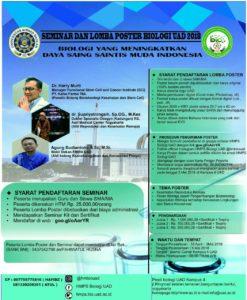 Seminar dan lomba poster biologi uad 2018